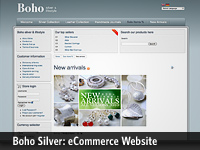 Boho Lifestyle:: Major reworking of a previously designed website to include full eCommerce functionality (international compatibility including multiple language and currency support) plus other marketing materials and signage.